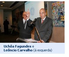Uchôa Fagundes e Leôncio Carvalho (à esquerda)